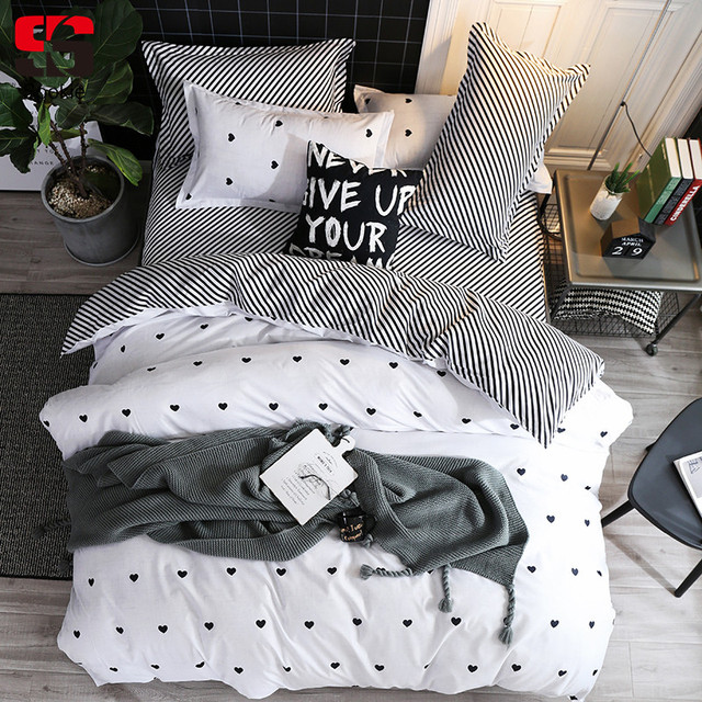 590df58a34d3 Sookie 3/4pcs Bedding Set Cartoon Pineapple Heart Printing king queen size  Duvet Cover Set Cute Bed Covers Linens for Girls Bed