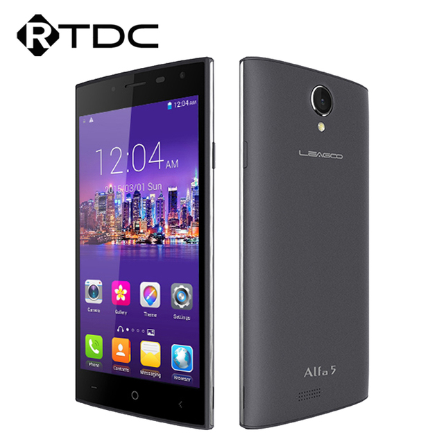 "Original Leagoo Alfa 5 Mobile Phone 3G WCDMA Android 5.1 5.0"" HD SC7731 Quad Core 1G RAM 8GB ROM 8.0MP Dual Sim GPS WIFI"