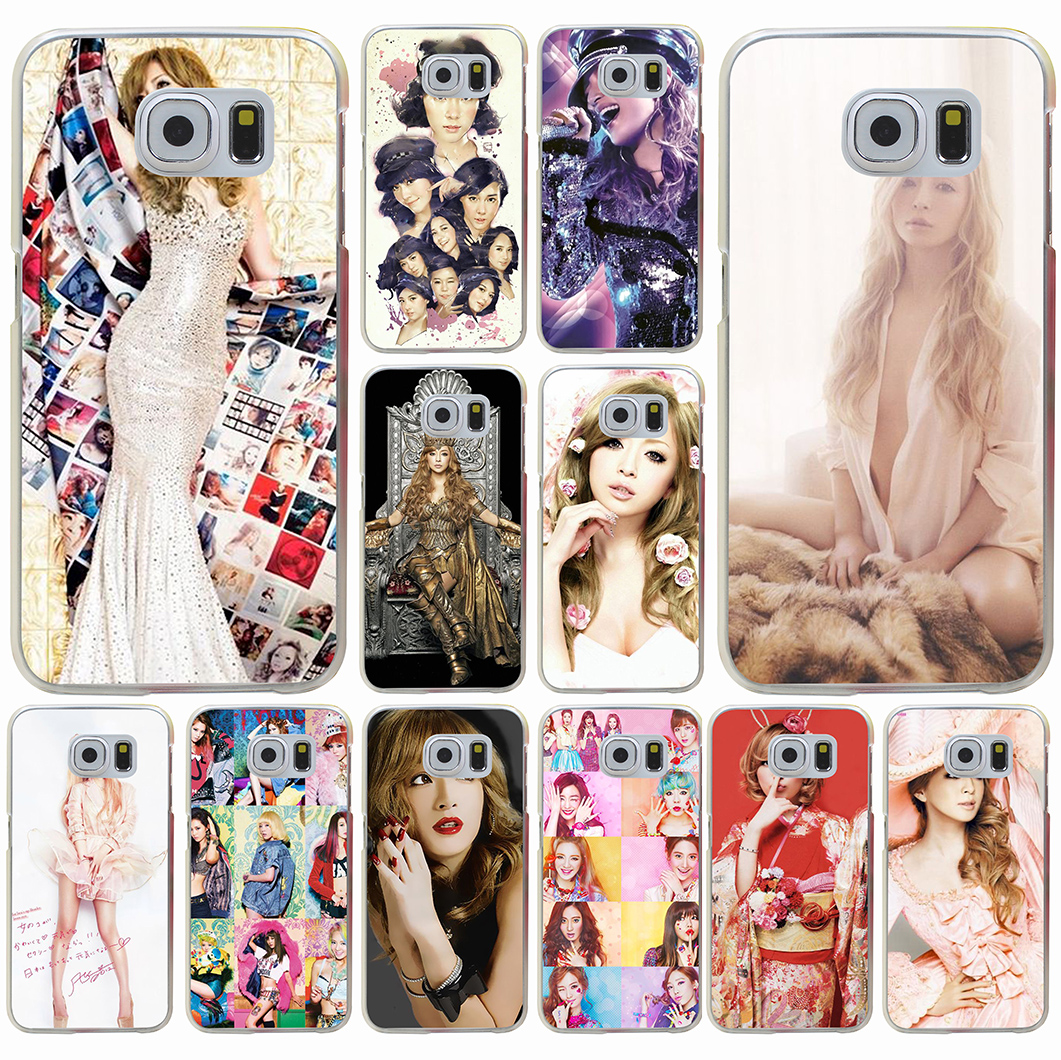 Ayumi Hamasaki mobile phone bag Hard Transparent for Galaxy S3 S4 S5 & Mini S6 S7 S8 edge S6 Edge Plus