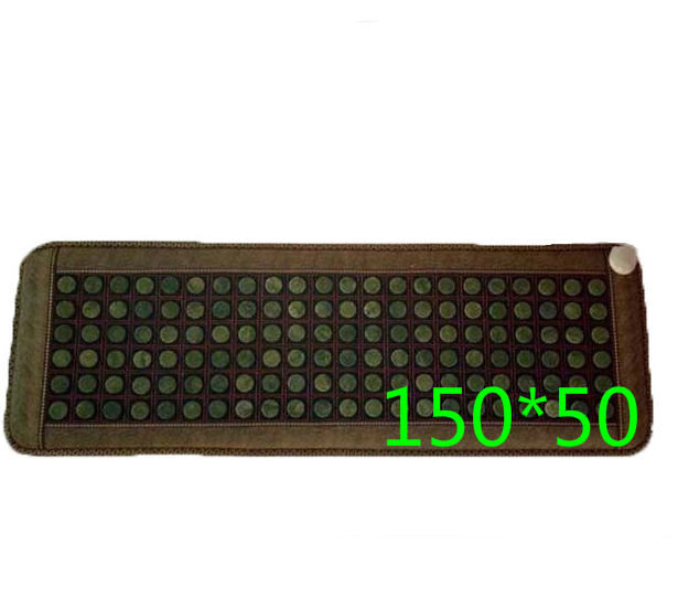 Natural jade6 rows of germanium stone therapy three sofa <font><b>cushion</b></font> Electric heating <font><b>cushion</b></font> health care physical therapy carpet
