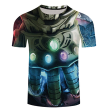2018 Marvel Avengers 3 Infinity War 3d Compression Short Sleeve T Shirt Men New Fashion Summer Men T-Shirt Funny Fitness Shirt