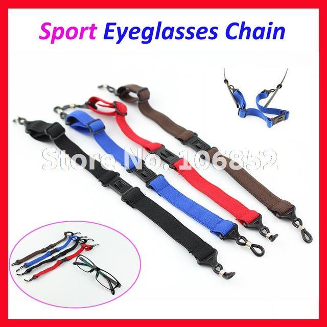 57d716ea8332c1 50 stks partij DH014 Kwaliteit Anti Slip Sport Verstelbare Zonnebril  Leesbril Brillen koord ketting houder