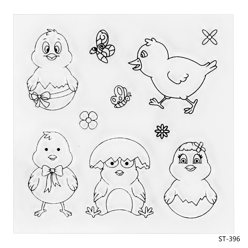 Little Chickens Transparent Clear Silicone Stamp/seal for DIY Scrapbooking/photo Album Decorative Clear Stamp Sheets. pammy riggs keeping chickens for dummies
