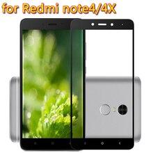 For Xiaomi Redmi Note 4 4X pro Full coverage Toughened glass screen protector film 9H 2.5D for redmi note4 4X Protective glass makibes toughened glass screen protector film for xiaomi redmi note 2
