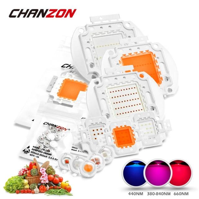 High Power LED Chip Full Spectrum Grow Light Lamp 1W 3W 5W 10W 20W ...