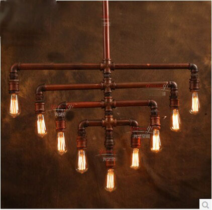lighting industrial look. Industrial Look Pipe Lamps Dinning Room Lighting Pendant Lights Including E27*9pcs Bulbs Inside Bar Decoration-in From N