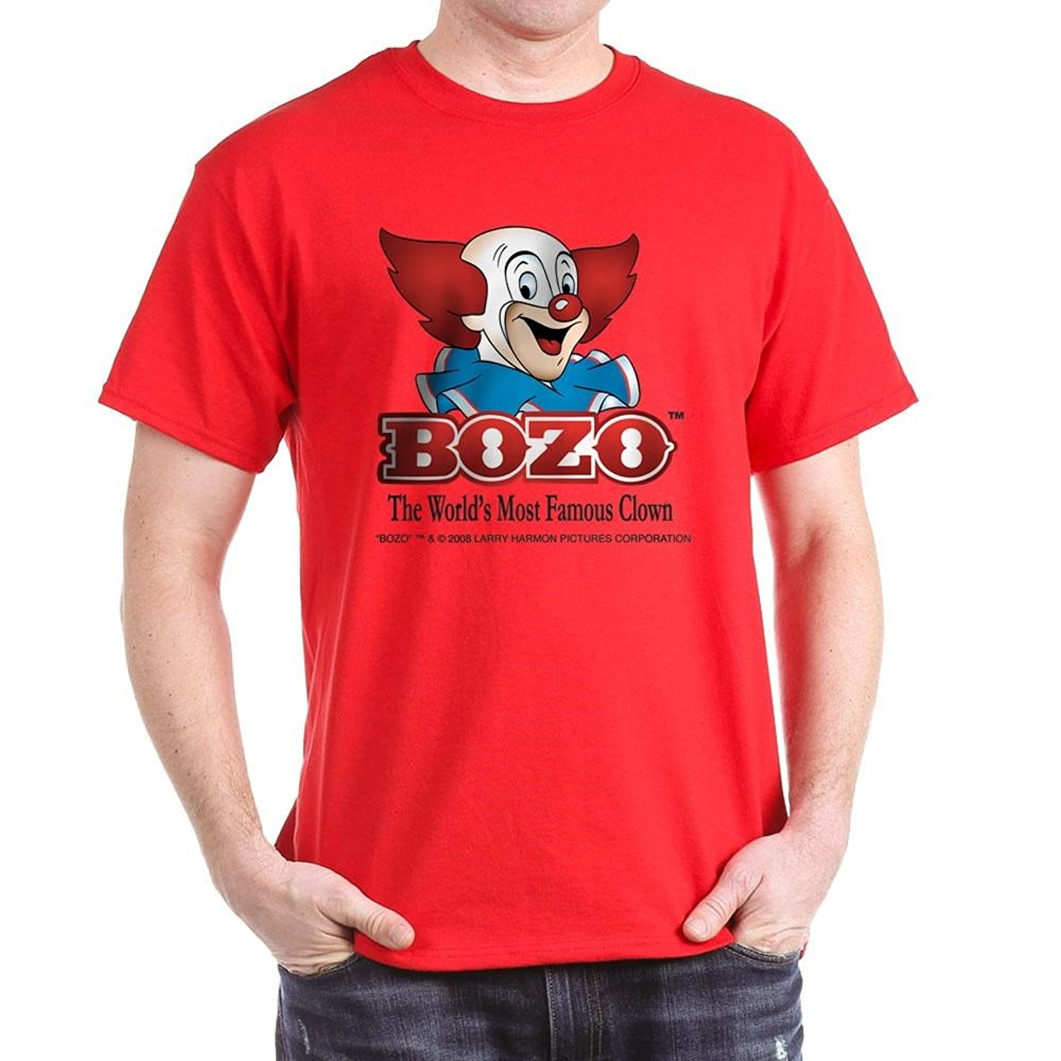Bozo Face T-Shirt - 100% Cotton T-Shirt