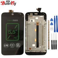 BKparts Tested For Acer Liquid Z630 Z630S LCD Display Touch Screen Glass Digitizer With Frame Liquid Z630 Z630S LCD Assembly