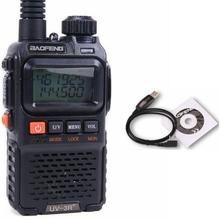 Dual band mini fashion baofeng UV 3R walkie talkie cheap price headset 3R PLUS walkie talkies