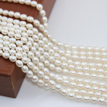 Women Gift word 925 Sterling silver real Pony natural freshwater pearl necklace, DIY meters, strong light, near flawless, 7-8MM