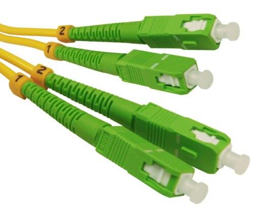 15 Mètre SC/APC de SC/APC Fiber Optique Câble Monomode Duplex Patch Cordon