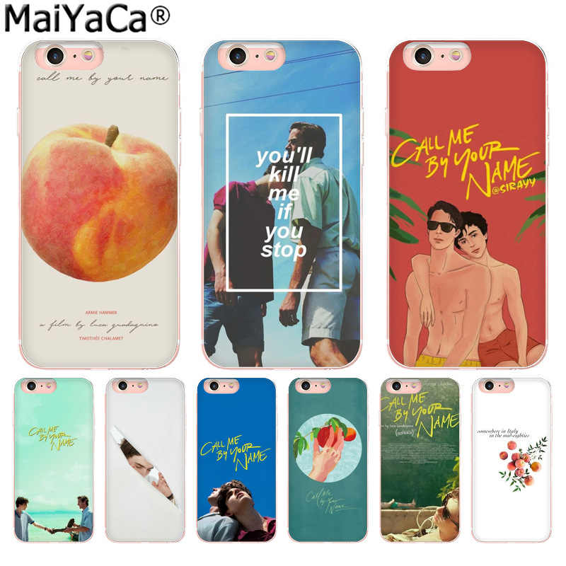 MaiYaCa TV Please Call Me byของคุณชื่อใหม่มาถึงแฟชั่นโทรศัพท์กรณีสำหรับiPhoneของApple iPhone 11 Pro 8 7 66S PLUS X 5S SE XR XS XS MAX