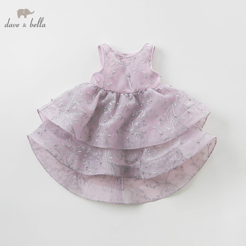 DB10772 DAVE BELLA baby girl princess clothes children birthday party wedding dress kids formal embroidered dresses