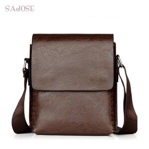 Men Messenger Bags PU Leather