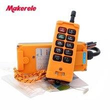 цена на Quality Assurance 6 ChanneIs 1 Speed control 2 motor crane industrial remote control MKHS-10 1 wireless Transmitter IP65 Degree