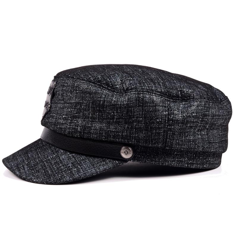 2019 les nouvelles femmes hommes hiver chapeau marée épaisse chaude en cuir Locomotive casquette plate, casquette, chapeau décontracté, béret cap