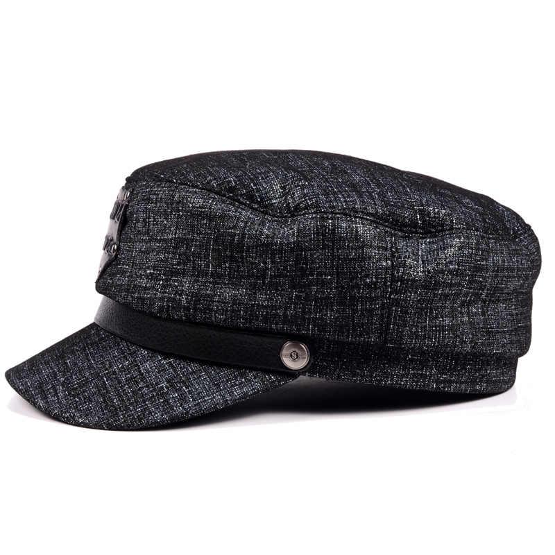 2019 새로운 여성 남성 겨울 모자 조수 두꺼운 따뜻한 가죽 기관차 플랫 캡, 모자, 캐주얼 모자, 베레모 모자