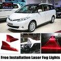 Instalação gratuita Para Toyota Previa/Canarado/Estima/Tarago/mais novo Laser de Barbatana de Tubarão Energia Solar Luzes de Nevoeiro/Aviso lâmpada