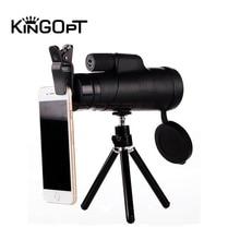KINGOPT 10x42 Handheld Monoculars HD Wide-angle Lll Night Vision Monocular Telescopes Outdoor Hiking Camping Bird-watching Tools