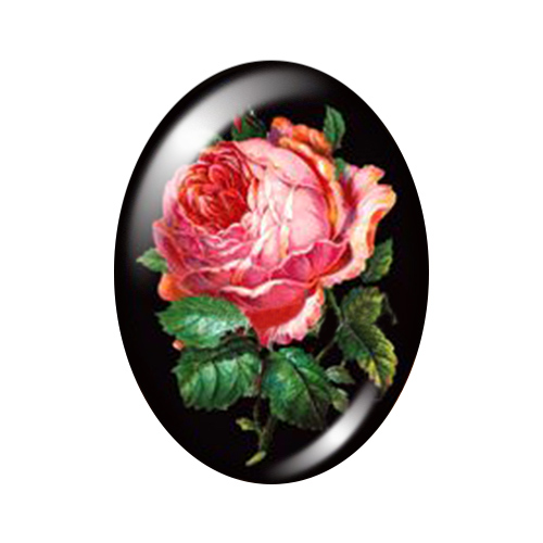 Красивые Винтажные Цветы Роза Маргаритка 10 шт. 13x18 мм/18x25 мм/30x40 мм овальные фото стекло кабошон демонстрационная плоская задняя часть изготовление TB0043 - Цвет: L