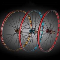 MEROCA mountain bike bicycle Milling trilateral XC6 XC9 front 2 rear 5 bearing japan hub super smooth wheel wheelset
