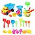 New 21pcs/set Beach Sand Play Toys Set Bucket Rakes Sand Wheel Watering Sand Play Bath Toys For Children Learning Study Toys