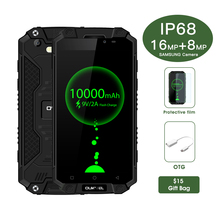 "Oukitel K10000 Max 10000 mAh IP68 Tri-beweis Smartphone 5,5 ""Android7.0 MTK6753 Octa-core 3 GB 32 GB USB Typ C Ruggerdised 4G Telefon"