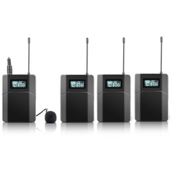 100m RF stereo Wireless Microphone For Tour Guide Conference Teaching with Microphone (3 reciver + 1 transmitter)