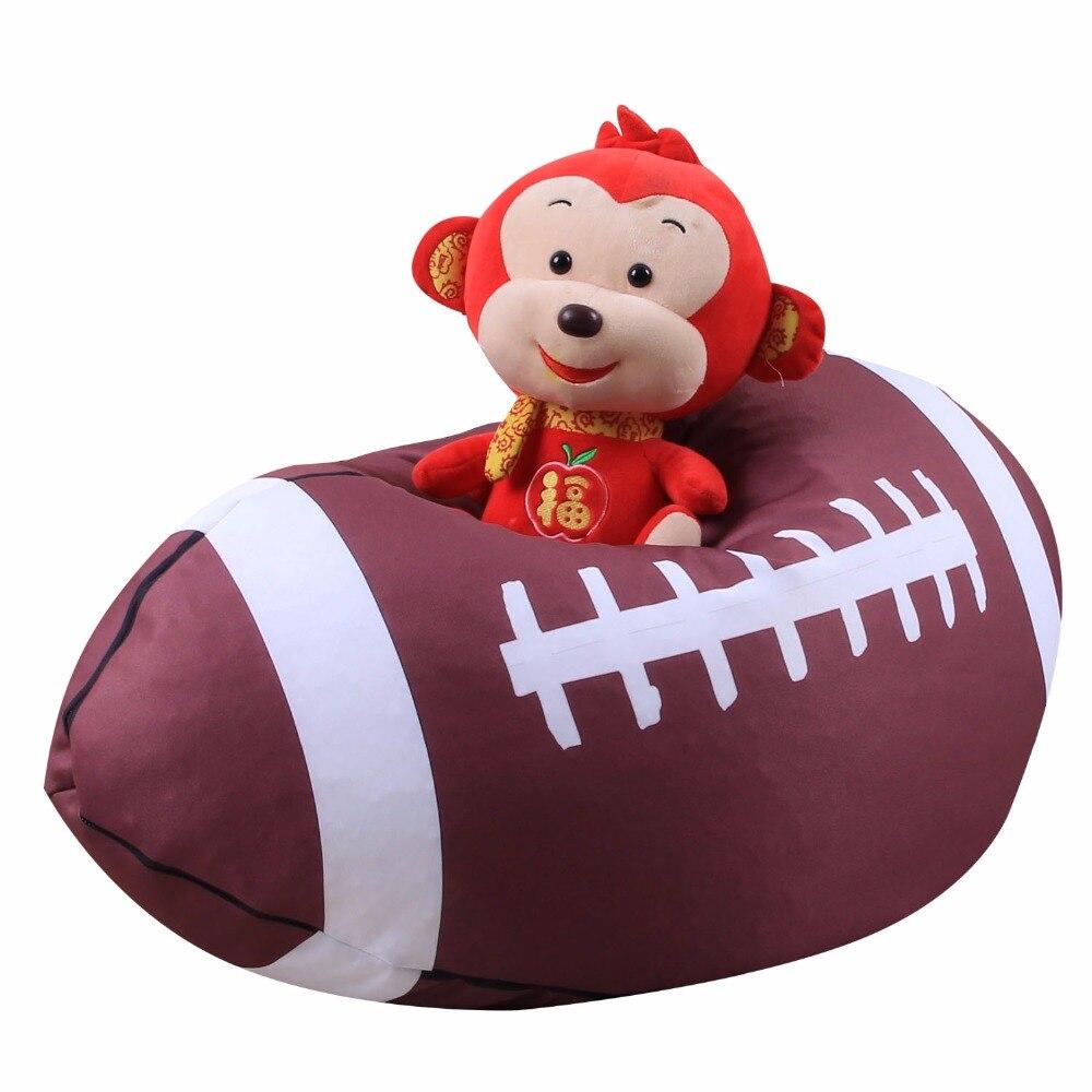 Футбольная бейсбольная сумка для хранения, Детская плюшевая сумка для хранения игрушек, мягкая сумка, тканевый стул
