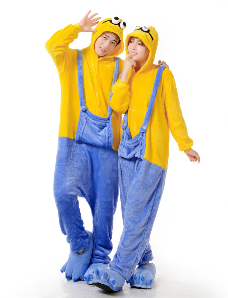 c92e69490f4d Minion despicable me Character Onesies For Adult Cute Animal Pajamas Onesies  Men Women One Piece Animal Onesie Jumpsuit Pajamas on Aliexpress.com