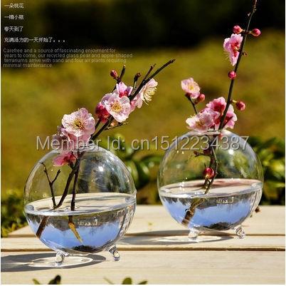 Terárium borosilikátové zavěšené skleněné květinové vázy 8 * 8cm koule kulaté koule stolní vázy domácí svatební dekorace transparentní