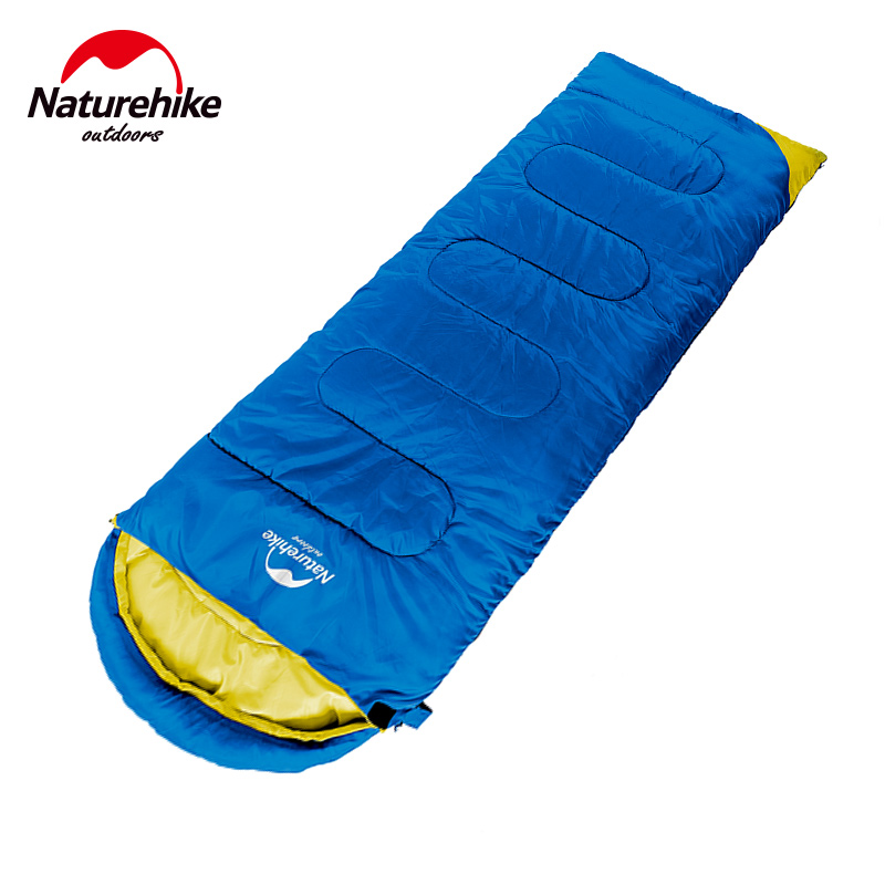 NatureHike Ultralight Camping Sleeping Bag Adult Tents Cotton Filler Envelope Outdoor Warm Spring Autumn Hiking Bags Lazy Bag winter thicken warm sleeping bag adult envelope outdoor ultralight camping travel bolsa termica waterproof breathable lazy bag