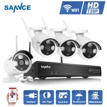 SANNCE NVR kits 4CH IR HD Home Security font b Wireless b font NVR Kits IP