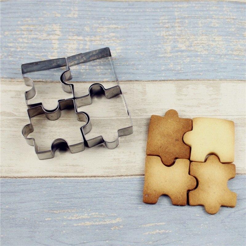 Moule à gâteau pâtisserie Biscuit moule outils de cuisson accessoires acier inoxydable perplexe pièce emporte-pièce