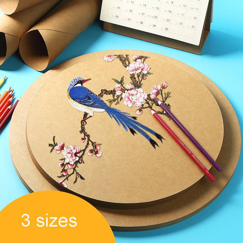 25pcs Kraft Watercolor Painting Paper Sketch Hand Painted Aquarelle Watercolour Paper Pad Drawing Paper Art Painting Supplies