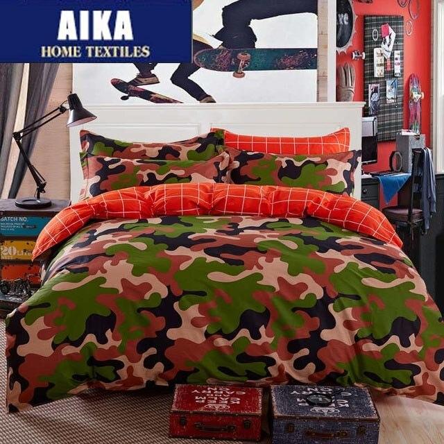 Camo Cotton Bedding Sets Duvet Cover Bedclothes Bed Set The Blue Pink Queen Size Bedclothes Sheet