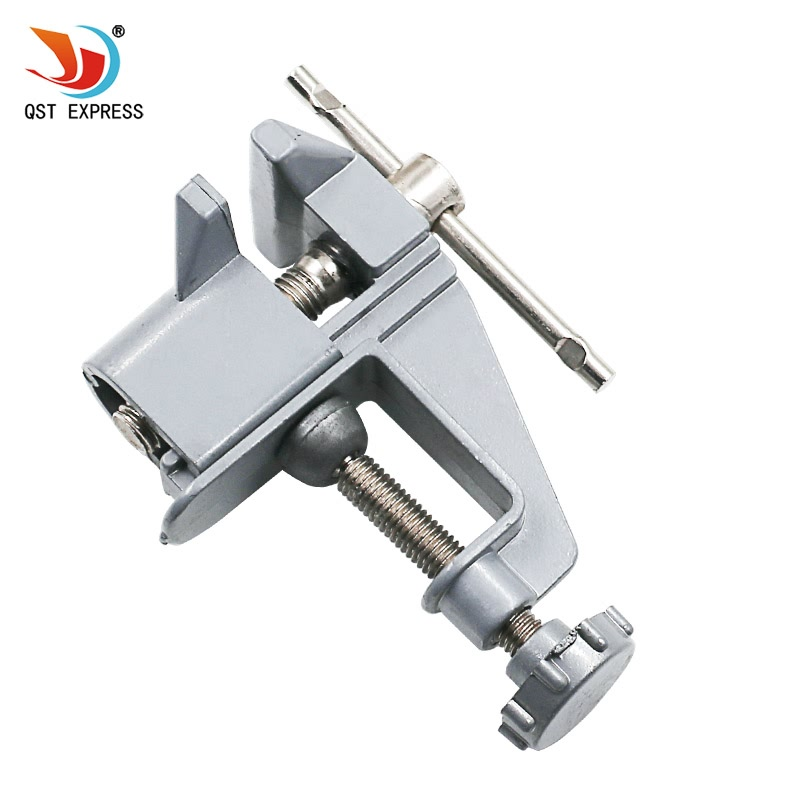 High quality Mini Table Vice Aluminium Alloy Bench Screw Bench Vise for DIY Jewelries Craft mould Fixed Repair Tool Freeshipping mini table vice adjustable max 37mm plastic screw bench vise for diy jewelry craft repair tools dremel power tools accessories