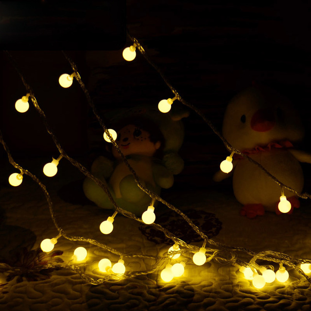 2m 20 leds ball string lights christmas light patio lights lighting for home garden lawn party