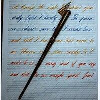 10 pieces per lot Handmade Wooden Magic Wand Copperplate Script Oblique Dip Pen Nib Holder Best Gift Calligraphy Dip Pen