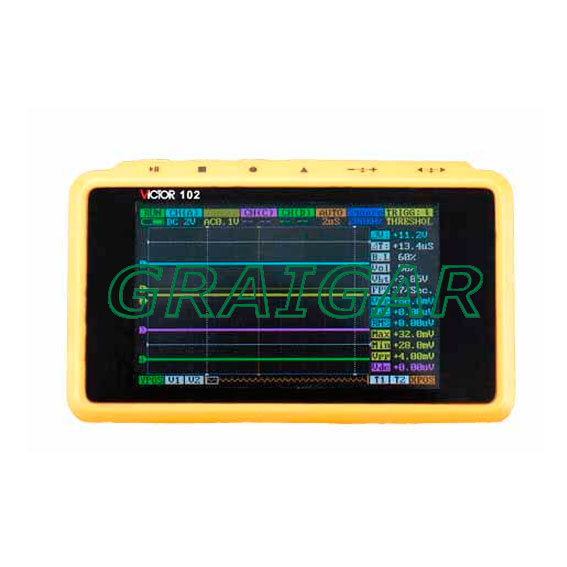 100% Authentic VICTOR 102 VC102 Mini Handheld Digital Oscilloscope Pocket size, Free shipping by DHL  цены