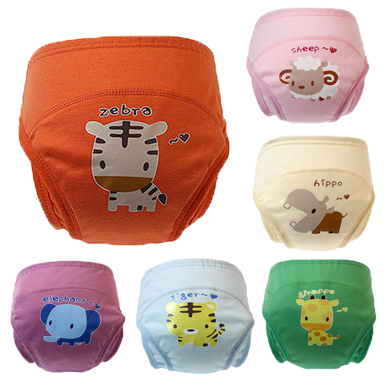 Baby Panties Cloth Cartoon Diapers Leak-Proof Infant Underwear Training Panties Child's Underwear Briefs For Girls Newborn Panty