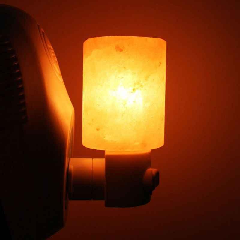 7 couleurs, lampe de sel de l'himalaya lumière de sel en cristal naturel lueur veilleuse applique murale pour l'éclairage, la décoration et la purification de l'air