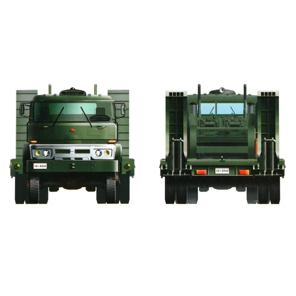 Trompettiste assembler Puzzle modèle principal bataille réservoir transporteur Missile Transport lancement véhicule jouet enfants noël présent