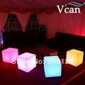 16 cores RGB CONDUZIU a Iluminação Bar Fezes para casa com controle remoto bateria de lítio e swtich 30*30*30 cm VC-A300