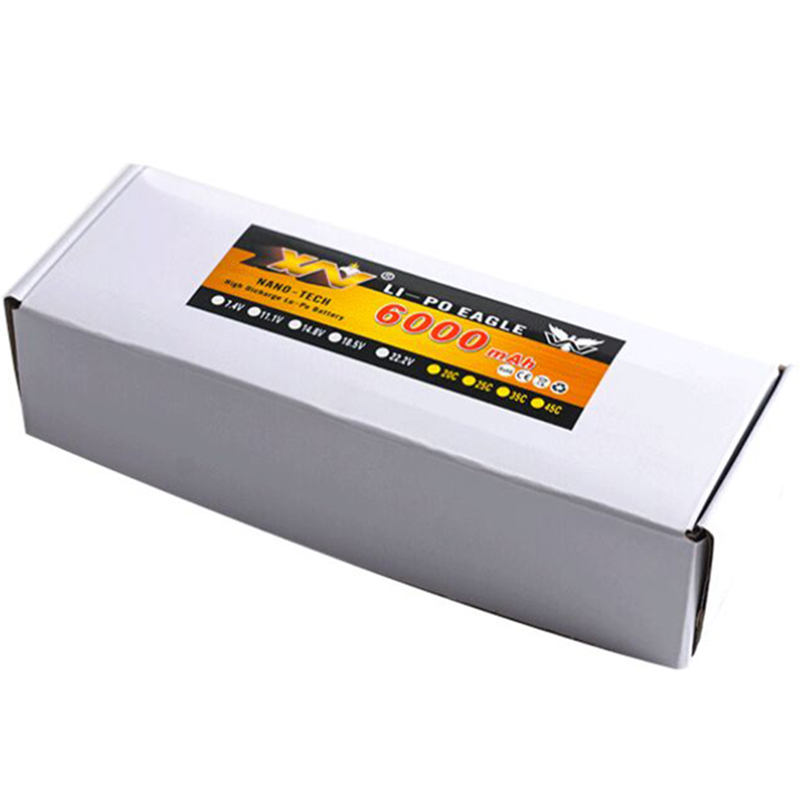High Quality RC Battery 22.2V 6000mAh 25C Max 55C 6S 6Cells 22.2Volt RC LiPo Li-Poly Battery for Helicopters Quadcopter RC drone