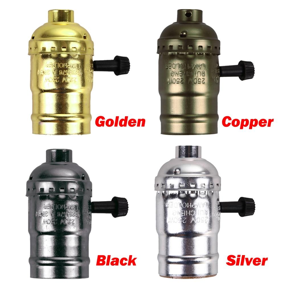 TSLEEN Cheap! 110V 220V Retro Edison Bulb Holder E27 Socket Antique Lamp Base Cord Grip Threaded Lampholder For Pendant Light