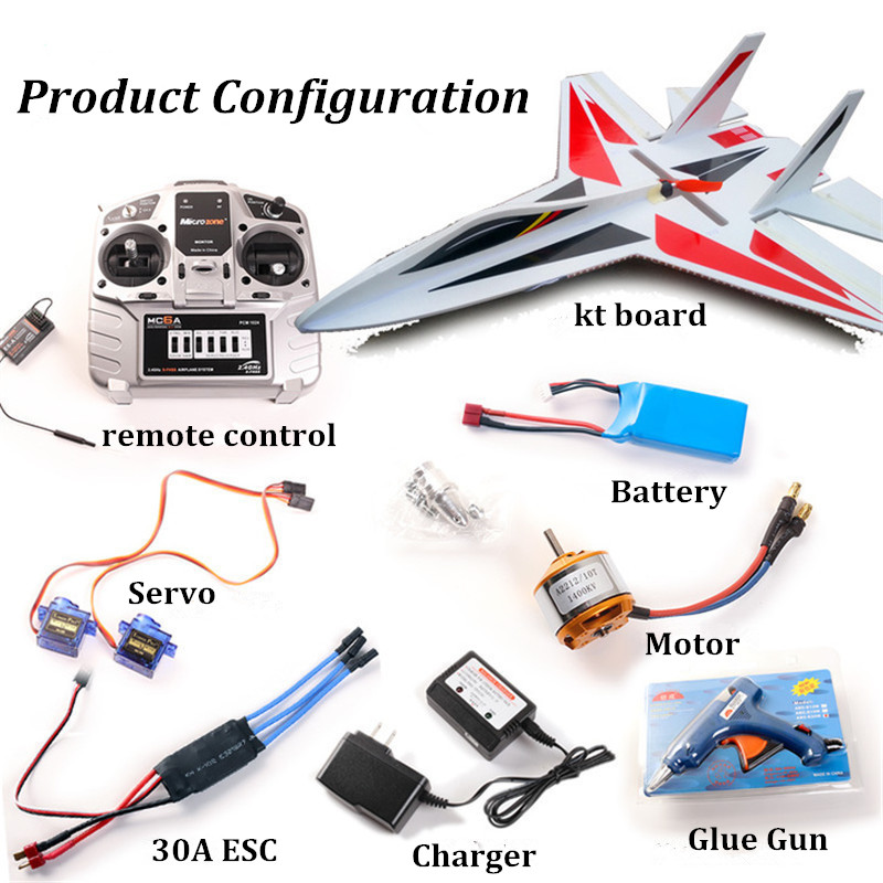 High speed rc plane su 27 rc model plane electric remote control airplanes  kt foam rc airplanes kits hot sale fighter jet -in RC Airplanes from Toys &