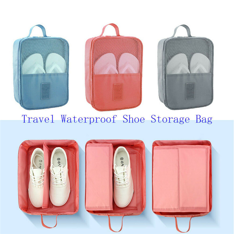 Portable Travel Shoes Storage Tote Ventilate Pouch Zip Bag Organizer 29 13 22c Household  Underwear Sorting Bag-in Storage Bags from Home & Garden