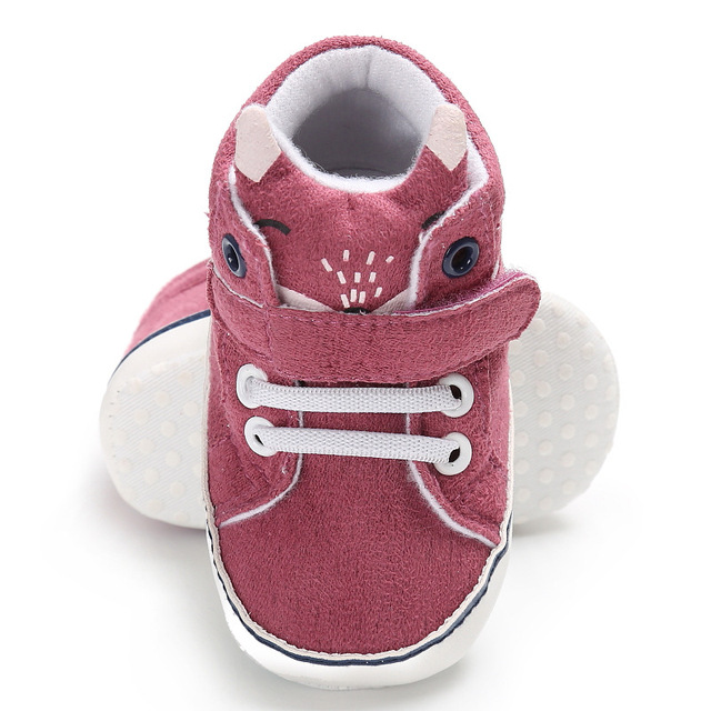 All Seasons Hot sale First walkers Animal print Fox Cartoon Bear Soft sole Non-Slip Canvas Boys Girls infant Baby Sneakers shoes