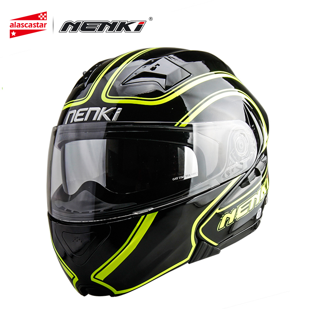 NENKI Motorcycle Helmet Flip Up Modular Helmet Motorcycle Moto Helmets Double Lens Motocross Helmet Casco Moto Four Seasons 815 ve bc vebc msop